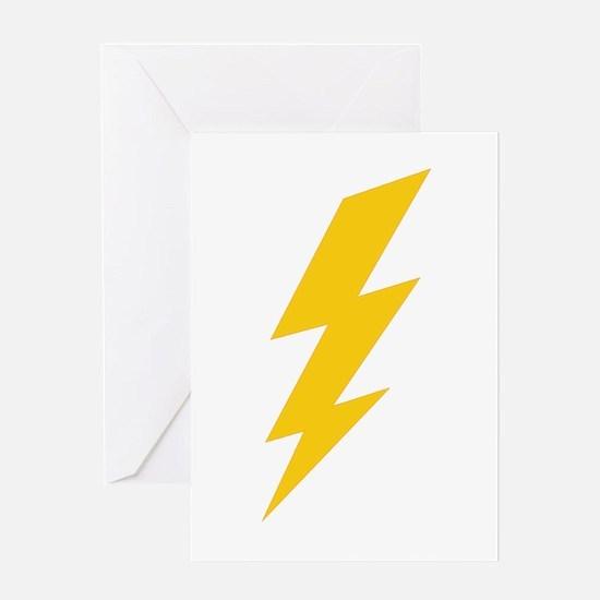 Yellow Thunderbolt Greeting Card