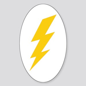 Yellow Thunderbolt Sticker (Oval)