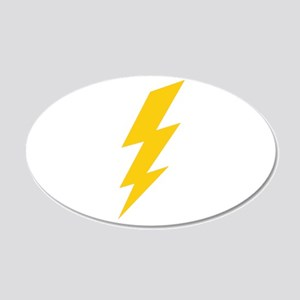 Yellow Thunderbolt 22x14 Oval Wall Peel