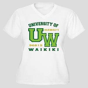 University of Waikiki-Women Plus Size V-Neck Shirt