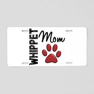 Whippet Mom 2 Aluminum License Plate