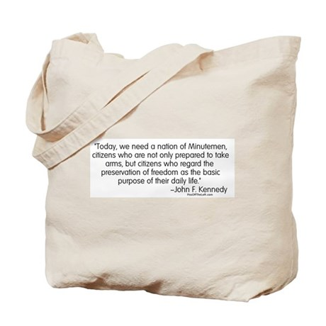 Kennedy: Nation of Minutemen Tote Bag
