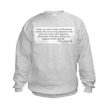 Kennedy: Nation of Minutemen Kids Sweatshirt