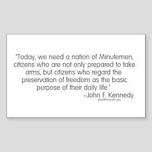 Kennedy: Nation of Minutemen Rectangle Sticker