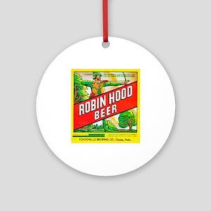 Nebraska Beer Label 5 Ornament (Round)
