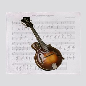 Mandolin and Sweet Music Throw Blanket