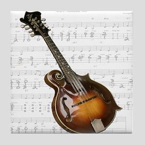 Mandolin and Sweet Music Tile Coaster