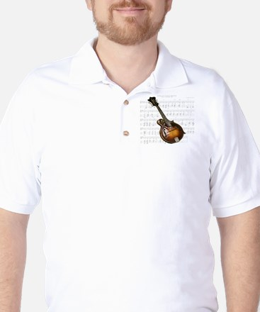 Mandolin and Sweet Music Golf Shirt
