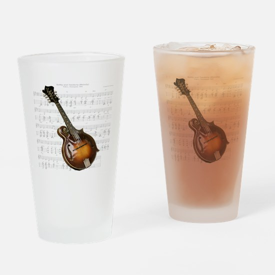 Mandolin and Sweet Music Drinking Glass