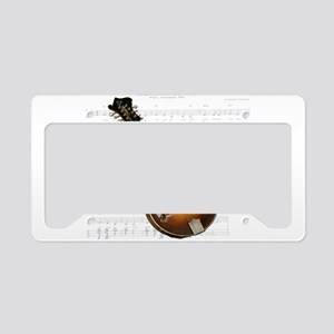 Mandolin and Sweet Music License Plate Holder