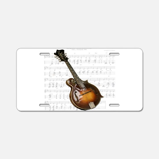 Mandolin and Sweet Music Aluminum License Plate