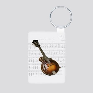 Mandolin and Sweet Music Aluminum Photo Keychain