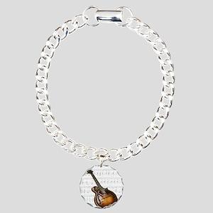 Mandolin and Sweet Music Charm Bracelet, One Charm