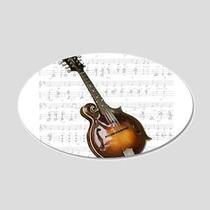 Mandolin and Sweet Music 22x14 Oval Wall Peel