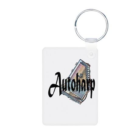 Autoharp Aluminum Photo Keychain