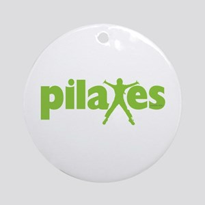Green Ink Pilates Ornament (Round)