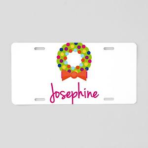 Christmas Wreath Josephine Aluminum License Plate