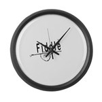 Fiddle Large Wall Clock