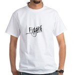 Fiddle White T-Shirt