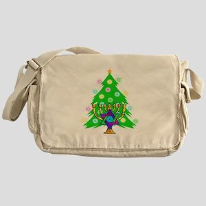 Hanukkah and Christmas Families Messenger Bag