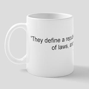 Adams: They define a republic Mug
