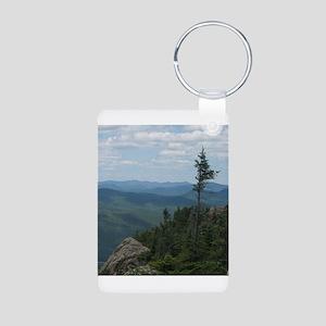 Crane Mountain Summit Aluminum Photo Keychain