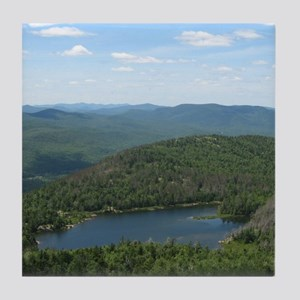 Crane Mtn Pond (from summit) Tile Coaster