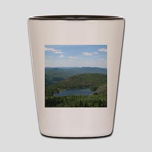 Crane Mtn Pond (from summit) Shot Glass