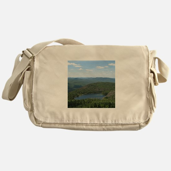 Crane Mtn Pond (from summit) Messenger Bag