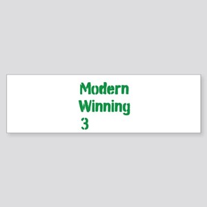 Modern Winning 3 Sticker (Bumper)