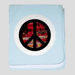 Peace not War baby blanket