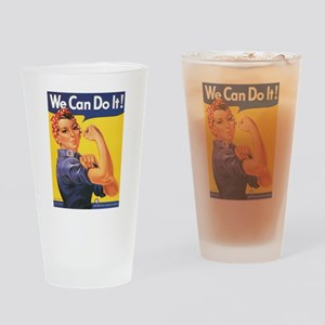 WWII POSTER WE CAN DO IT! Drinking Glass
