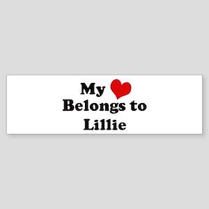 My Heart: Lillie Bumper Sticker