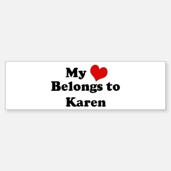 My Heart: Karen Bumper Car Car Sticker