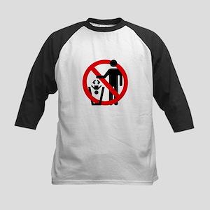 No Trashing Babies Kids Baseball Jersey