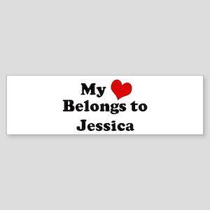 My Heart: Jessica Bumper Sticker