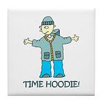 Time Hoodie Tile Coaster