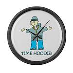 Time Hoodie Large Wall Clock