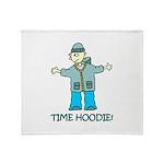 Time Hoodie Throw Blanket
