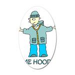 Time Hoodie 38.5 x 24.5 Oval Wall Peel