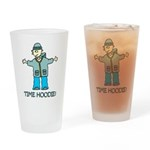 Time Hoodie Drinking Glass