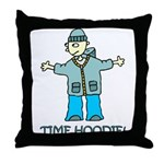 Time Hoodie Throw Pillow