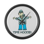 Time Hoodie Large Wall Clock