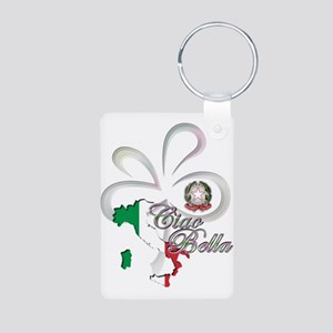 Ciao Bella Aluminum Photo Keychain