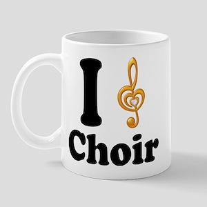 I Love Choir Treble Clef Mug