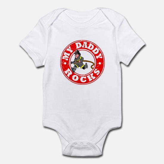 My Daddy Rocks - Fireman Infant Bodysuit