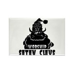 Worship Satan Claus Rectangle Magnet (10 pack)
