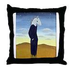 Homo Equus Throw Pillow