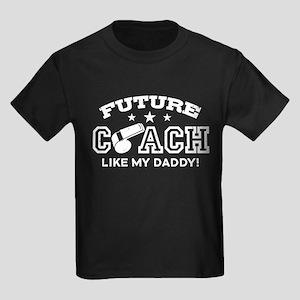 Future Coach Like My Daddy Kids Dark T-Shirt