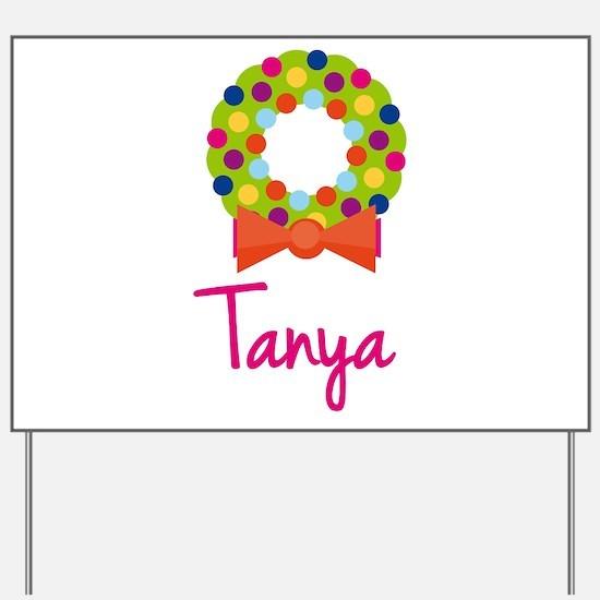 Christmas Wreath Tanya Yard Sign